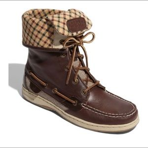SPERRY Top-Siders Ladyfish Leather Boots 6.5
